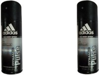 Adidas Dynamic Pulse Deodorant Spray (Pack Of 2) Body Mist  -  For Men (300 Ml)