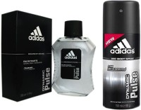 Adidas Lavish Life Combo In Dynamic Pulse EDT & Deo Body Spray  -  For Boys, Men (250 Ml)