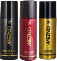 Mezno Fragrance Deodorant Combo Of 3 Body Spray  -  For Men (150 Ml)