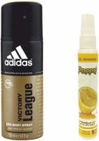 Adidas Adidas Victory League Deo + Poppy Spray Freshener Citrus Free Deodorant Spray  -  For Boys, Girls, Men, Women (150 Ml)