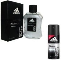Adidas The Dynamic Pulse Combo Body Spray  -  For Boys, Men (250 Ml)