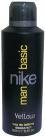 Nike Basic Yellow Deodorant Spray  -  200 Ml - For Men
