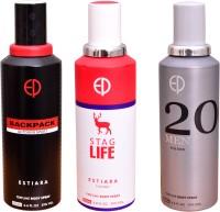 ESTIARA 1 BACKPACK OUTDOOR SPORT::1 STAG LIFE::1 20 MEN Deodorant Spray  -  For Men, Women (600 Ml)