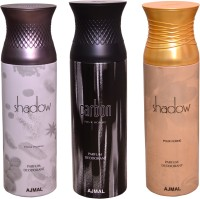 AJMAL 1 SHADOW FOR HIM::1 CARBON::1 SHADOW WOMEN Deodorant Spray  -  For Women (600 Ml)