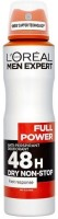 L'Oreal Paris Full Power 48 H Dry Non Stop Deodorant Spray  -  For Men (150 Ml)