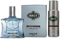 Brut Combo EDT 100ml, Deo 200ml Body Spray  -  For Men (200 Ml)
