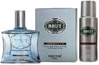 Brut Combo EDT 100ml, Deo 200ml Body Spray  -  For Men (200 Ml)