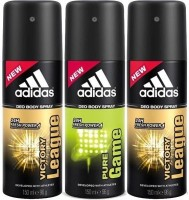 Adidas Victory League And Pure Game Deodorant Spray  -  For Men (450 Ml)