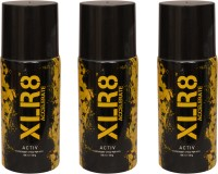 XLR8 3 Activ Deodorant Spray  -  For Men, Women (450 Ml)