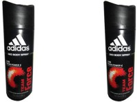 Adidas Team Force Deodorant Spray (Pack Of 2) Body Mist  -  For Men (300 Ml)