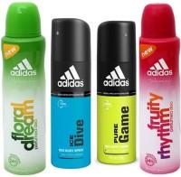 Adidas Floral Dream Ice Dive Pure Game Fruity Rhythm Body Spray  -  For Men (600 Ml)