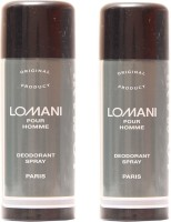 Lomani Lomani Pour Homme Deodorant Spray  -  For Men, Women (400 Ml)