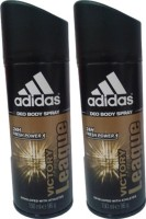 Adidas Victory League Deodorant Spray (Pack Of 2) Body Mist  -  For Men (300 Ml)