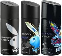 Playboy Malibu Hollywood Newyork Body Spray  -  For Men (450 Ml)