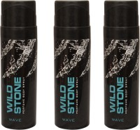 Wild Stone 3 Wave Deodorant Spray  -  For Men (300 Ml)