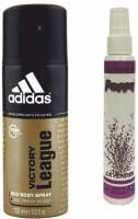 Adidas Adidas Victory League Deo + Poppy Spray Freshener Lavender Free Deodorant Spray  -  For Boys, Girls, Men, Women (150 Ml)