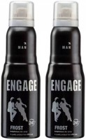 Engage Combo Of 2 Frost Deodorant Spray  -  For Men (150 Ml)