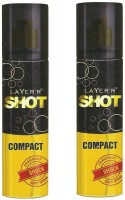 Layer'r Shot Compact Shock Body Spray (Pack Of 2) Body Spray  -  For Men (120 Ml)