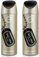 Armaf Tag Him For Men Deodorant Pack Of 2 Perfume Body Spray  -  For Men (400 Ml)