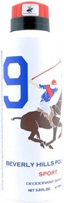 Beverly Hills Polo Club Sport Deodorant No 9 For Mens Body Spray  -  For Men (175 Ml)
