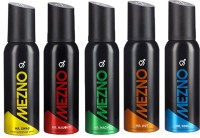 Mezno Fragrance Deodorant No Gas Deo- Combo Of 5 Body Spray  -  For Men (120 Ml)