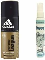 Adidas Adidas Victory League Deo + Poppy Spray Freshener Cool Water Free Deodorant Spray  -  For Boys, Girls, Men, Women (150 Ml)