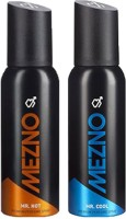 Mezno Fragrance Deodorant No Gas Deo- Combo Of 2 Body Spray  -  For Men (120 Ml)