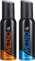Mezno Fragrance Deodorant No Gas Deo- Combo Of 2 Body Spray  -  For Men (120 Ml)