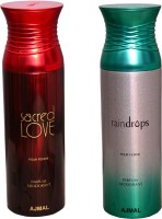 AJMAL 1 SACRED LOVE::1 RAINDROPS Deodorant Spray  -  For Women (400 Ml)