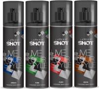 Layer'R Shot Urban,Vive, Fury , Rock Fragrance Body Spray Deodorant Spray  -  For Men (135 Ml)