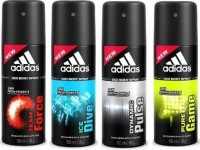 Adidas Team Force Ice Dive Dynamic Plus And Pure Game Deodorant Spray  -  For Men (600 Ml)