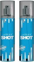 Layer'R Shot Blue Blaze Body Spray  -  For Men (270 Ml)