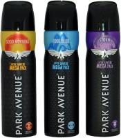 PARK AVENUE 3 MEGA DEO GOOD MORNING COOL BLUE STORM Body Spray  -  For Boys, Men (220 Ml)