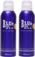 Rasasi 2 Blue For Men Deodorant Spray  -  For Men (400 Ml)