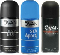 Jovan Black Musk Sex Appeal Satisfaction For Men Body Spray  -  For Men (450 Ml)