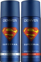 DENVER Denver Superman Strength And Power Deo Combo (Pack Of 2) Deodorant Spray  -  For Men (150 Ml)