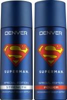 DENVER Denver Superman Strength And Power Deo Combo (Pack Of 2) Deodorant Spray  -  For Men (150 Ml)