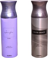 AJMAL 1 SACRIFICE FOR HER::1 SILVER SHADE Deodorant Spray  -  For Women (400 Ml)