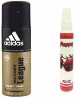 Adidas Adidas Victory League Deo + Poppy Spray Freshener Rose Free Deodorant Spray  -  For Boys, Girls, Men, Women (150 Ml)