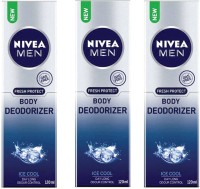 Nivea Ice Cool Deodorant Pack Of 3 Body Spray  -  For Men (120 Ml)