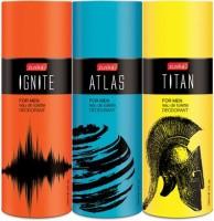 Zuska Pack Of 3 Edt Deodorant Spray  -  For Boys, Girls (450 Ml)