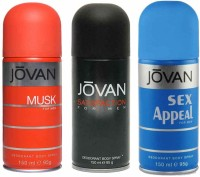 Jovan Musk Satisfaction Sex Appeal Body Spray  -  For Men (450 Ml)