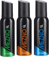 Mezno Fragrance Deodorant No Gas Deo Pack Of 3 Body Spray  -  For Men (120 Ml)