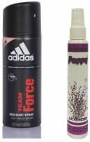 Adidas Adidas Team Force Deo + Poppy Spray Freshener Lavender Free Deodorant Spray  -  For Boys, Girls, Men, Women (150 Ml)