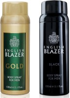 English Blazer Pack Of 2 Body Spray  -  For Men (150 Ml)