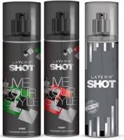 Layer'R Shot Vive, Fury, Power Play Fragrance Body Spray Deodorant Spray  -  For Men (135 Ml)