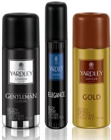 Yardley Gentleman 150ml Gold 150ml And Elegance 75 Ml Deodorant Body Spray  -  For Men, Boys (375 Ml)