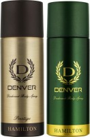 DENVER Denver Hamilton And Prestige Deo Combo (Pack Of 2) Deodorant Spray  -  For Men (150 Ml)