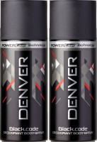 Denver Black Code Deo Combo (Pack Of 2) Body Spray  -  For Men (150 Ml)