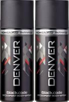 Denver Black Code Deo Combo (Pack Of 2) Body Spray  -  For Men (150 Ml)